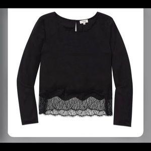 Wilfred desaix blouse sz xs black 100% silk